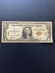 United States 1935 Issued 1 Hawaii Silver Certificate Banknote.