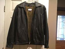 Men's Wilsons BLACK Lightweight Genuine Leather Waist Length Jacket, Size M
