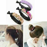Ladies Women Hair Clip Crystal Claw Ponytail Bun Holder Hair Comb Hairpin Decor