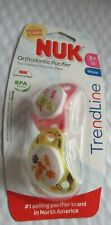 Nuk Trendline Orthodontic Pacifier- Pink & yellow- 2 pacifiers - 6+ month