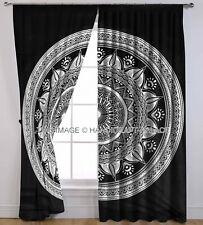 Ombre Mandala Curtain Door Hanging Window Balcony Indian Valance Drape Curtains
