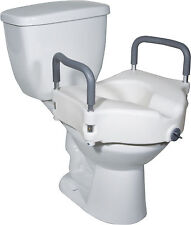 Raised Elevated Toilet Seat /Commode Riser w/ Arm-rests