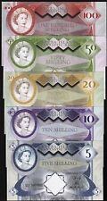 Set Aruba 5;10;20;50;100 Shillings, private Issue, 2018, QEII Hybrid Polymer