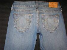 True Religion Women's Jeans Bobby Straight Leg Distressed Sz 27