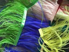 5 mètres Scraps chutes Ostrich feather Ribbon Trim Fringe 10-12 cm