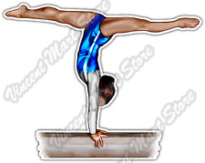 "Gymnastic Balance Beam Splits Gymnast Sport Car Bumper Vinyl Sticker Decal 5""X4"""
