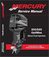 Mercury 200 / 225 OptiMax DFI Outboard Motor Service Repair Manual CD