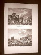 Agrigento o Girgenti Palma di Montechiaro e Molo Voyage Pittoresque di Saint Non