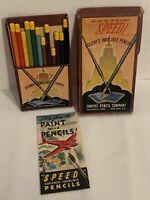 Vintage 1940's Empire Pencil Company Art Set No.179 12 Speed Colored Indelible