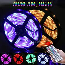 2X 5M 5050SMD RGB LED Strip Stripe Band Kette Licht Leichte Fernbedienung +Trafo