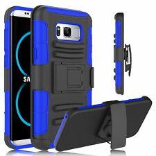 Samsung Galaxy S8 Case Hard Hybrid Cover Heavy Duty Armor Case Belt Swivel Clip