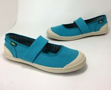 New Simple Cactus size 9 Methyl Blue Woven Textile Mary Jane Strap Sneakers