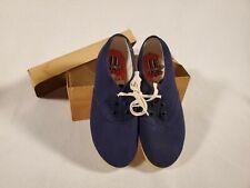 Vintage Dead Stock Tennies Canvas Tennis Shoe Sneakers ~ Children Size 12 Blue