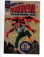 """Daredevil #24 (Jan 1967, Marvel) VF 8.0 """"KA-ZAR"""""""