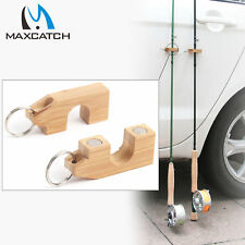 Maxcatch Fishing Rod Holder & Stand Natural Bamboo Magnetic Base 2Pcs/Lot