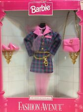 1997 barbie Doll fashion avenue internationale France houndstooth suit NRFB