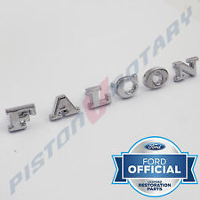 FALCON Boot Badge Letter SET with PINS ,New,for XW Ford 351 Trunk Letters Badges