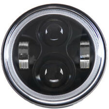 "Eagle Lights 5 3/4"" Black LED Headlight w/Halo Ring Harley Sportster Dyna"