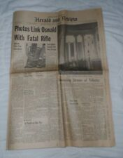 Herald Newspaper, Decatur Illinois, Kennedy Assassination, Oswald, photos