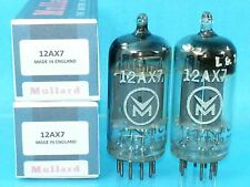MULLARD 12AX7 ECC83 MC1 VACUUM TUBE MATCH PAIR GOAL POST GRT SWEET WARM BEER PUB