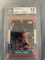 Michael Jordan 1986 Fleer Rookie Card RC BGS 2.5. Centering 9.5 Chicago Bulls