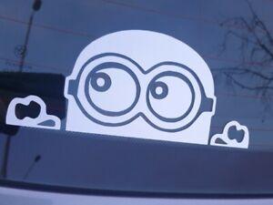 Minion Peek A Boo Car Window Sticker Decal Vinyl