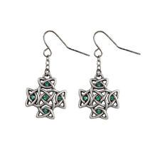 Celtic Knot Cross Dangle Earrings. Set of 2. Premium Jewelry