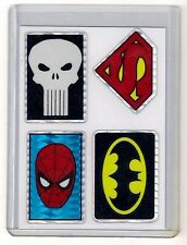 SPIDER-MAN PUNISHER SUPERMAN BATMAN combo  - 1990s Vending Prism Sticker DC Card