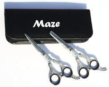 "Professional Barber Hairdressing Thinning + Cutting Scissors J2 shears Set 6.5"""