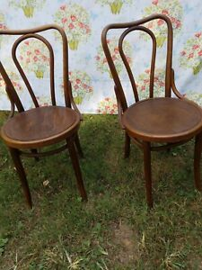 Set of Antique Vintage Bentwood Parlor Chairs