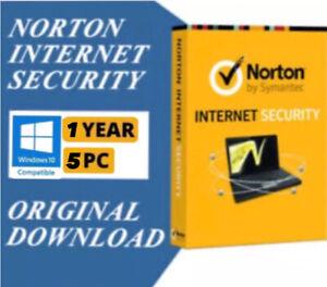 Norton Internet Security 1 Year/5 PC Downloadable Digital Key(GLOBAL)
