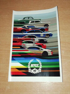 2018 BTCC British Touring Car Official 60th anniversary logo Car Bumper Sticker