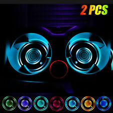 2x Cup Pad Car Accessories Led Light Cover Interior Decoration Lamp 7 Colors Us