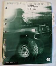 2003 BOMBARDIER ATV QUEST 50 & DS 50 2 STROKES PARTS MANUAL