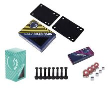 """Cal 7 1"""" Hardware + 1/8"""" Risers with Abec-7 Bearings and Spacers"""