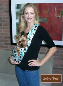 NEW LittleRubi pet dog puppy carrier sling tote free hands 45 prints  XS-2XL