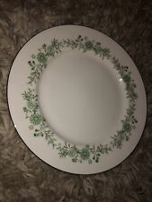 "Aynsley Bone China Emerald Isle Dinner Plate England 10 1/4"" Flowers Green"