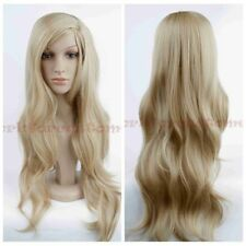 Women's Fashion Blonde Wig Long Wavy Synthetic Heat Resistant Cosplay Hair Wigs