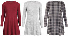 Polyester Long Sleeve Plus Size Casual Dresses for Women
