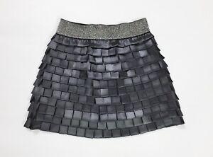 ama mini gonna corta disco minigonna S usato usato grigio skirt dress hot T2990