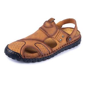 Mens Sandals Beach Slingbacks Shoes Closed Toe Sports Walking Non-Slip Flats New