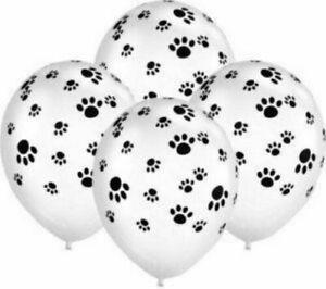 "Qualatex  11"" Latex Balloons Animal Black & White Paw Print Helium  Dog/Doggy"
