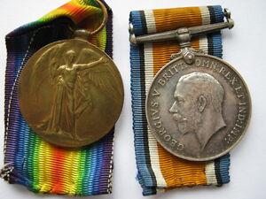 WWI pair to 80137 Pte J Pye Durham Light Infantry DLI