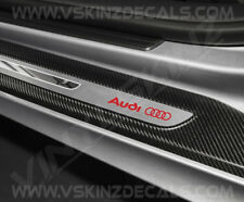 4x Audi Logo Premium Cast Door Sill Decals Stickers TT RS Quattro A3 A4 S-line