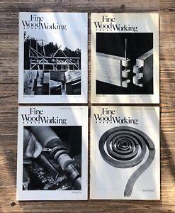 FINE WOODWORKING MAGAZINE: 4 VOLUMES No. 17 - 20, Michael Thonet (1979 - 1980)