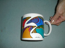 LAUREL BURCH collectable art mug FANTASTICO BIRDS pajarros JAPAN