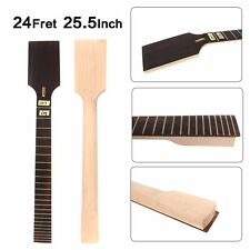 7String Electric Guitar Neck 24Fret 25.5inch Maple+Rosewood Guitar Project #CD7