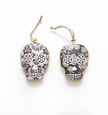 Pair of Black Hanging wall decoration Skull Skulls Iron Metal Day of the Dead
