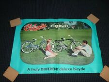 Vtg 60's Columbia Bicycle Store Advertising Poster Firebolt Bike 32 x 21.5""