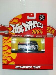 "Hot Wheels "" Volkswagen Truck "" - 100% 40th Anniversary- silver w/black flames"